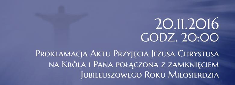 Proklamacja Aktu Przyjęcia 20.11