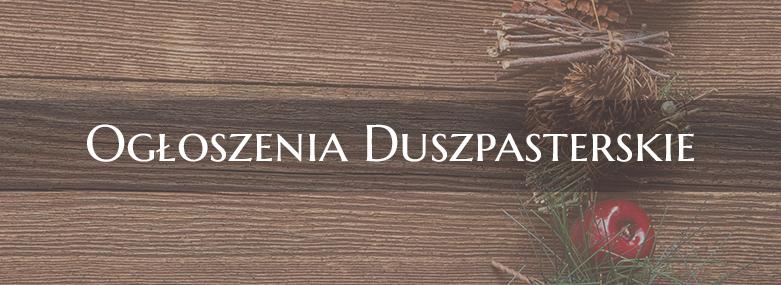 Ogłoszenia Duszpasterskie 17.12.2017