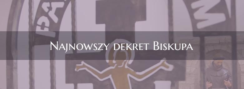 Najnowszy dekret Biskupa