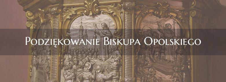 Podziękowanie Biskupa Opolskiego